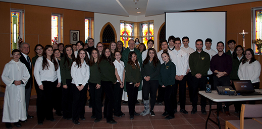 St. Theresa of Lisieux's Semester-End Italian Mass