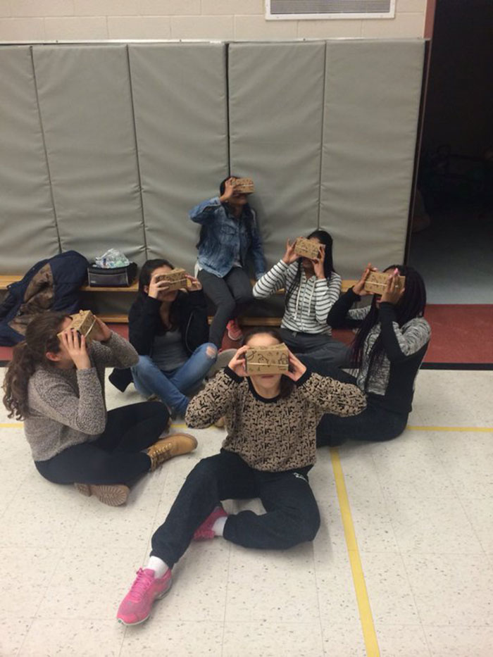 Students go on Google Expeditions to travel the world, past and present