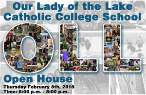 our lady of the lake open house flyer