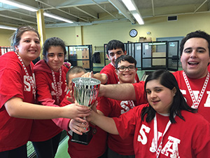 St. Joan of Arc students celebrate bocce win