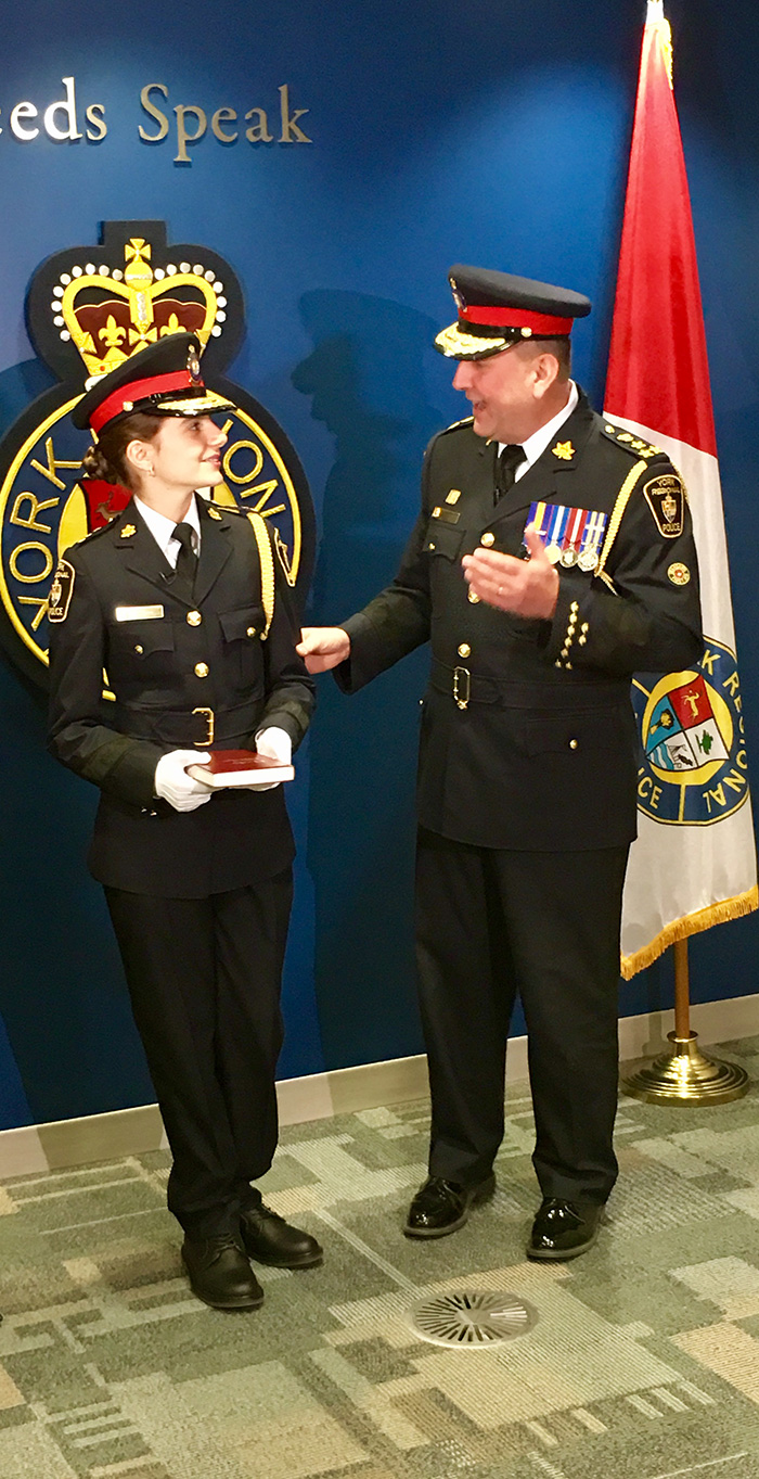 St. Margaret Mary student acted as YRP Chief for a Day