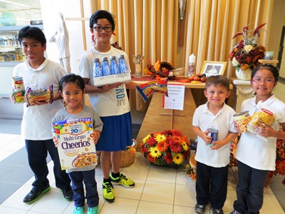 Thanksgiving Food Drive at San Lorenzo Ruiz CES