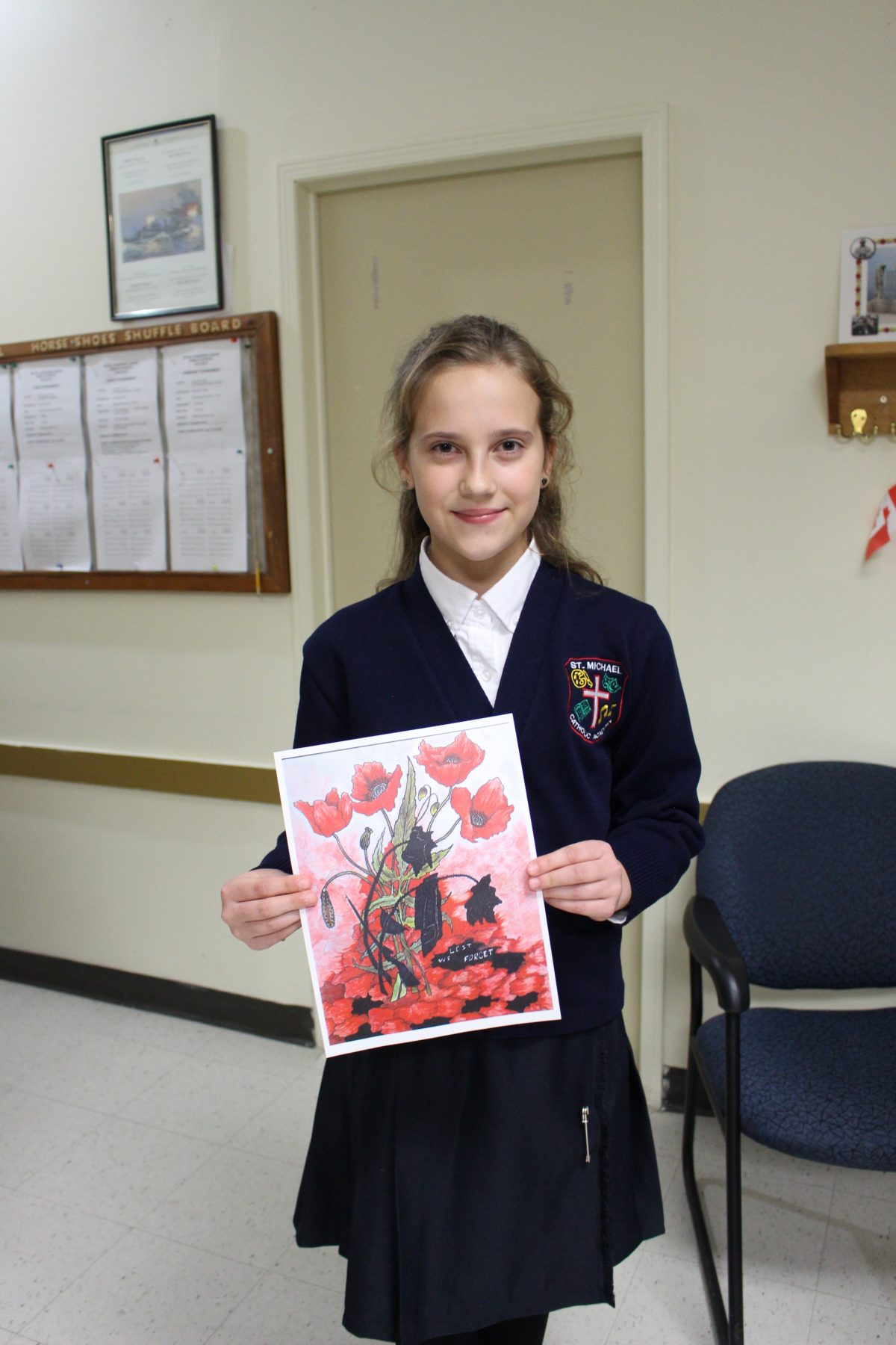 St. Michael student to meet the Queen thanks to the Royal Canadian Legion