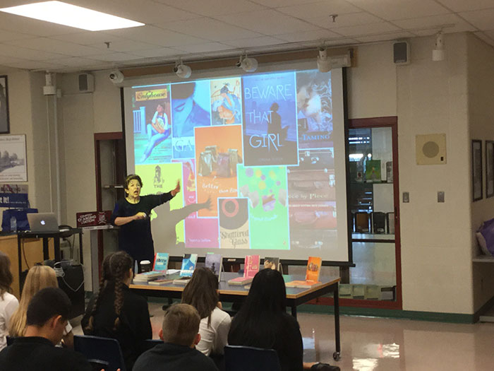 Award-winning YA Author speaks with St. Elizabeth students