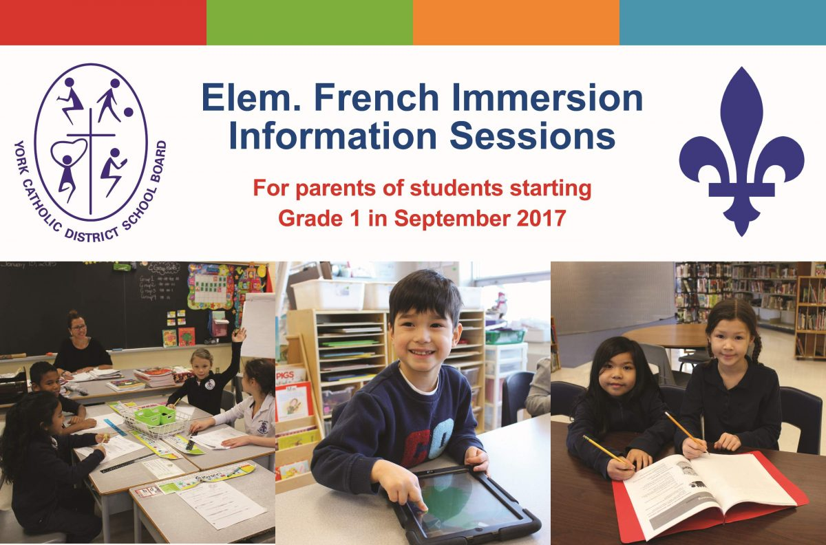 Parents invited to learn about York Catholic's French Immersion Program