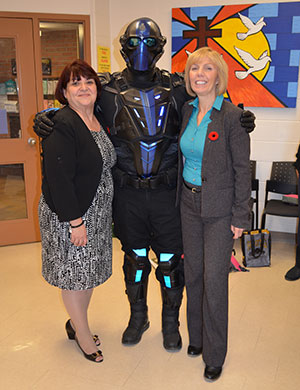 UNITED the Super Hero shares Bullying Prevention message with St. Edward students
