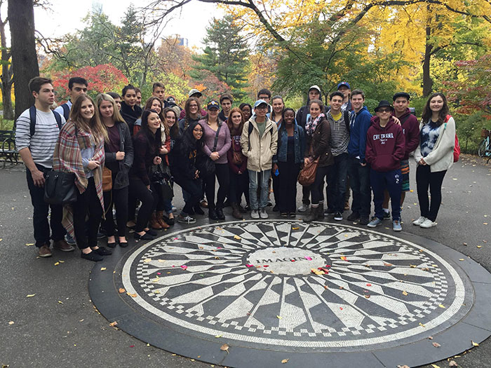 Sacred Heart drama students in a New York State of Mind
