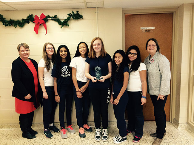 St. Anthony students awarded Core Values Award at Robotics competition