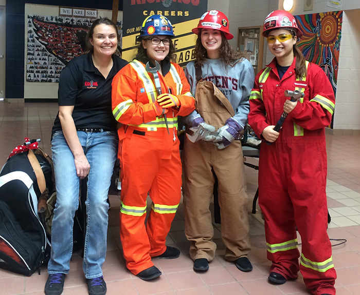St. Brother Andre students have fun learning about careers in the trades
