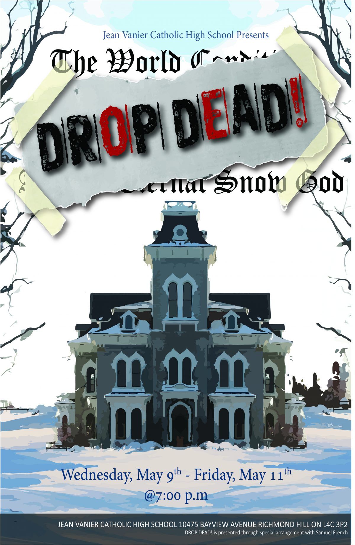 Jean Vanier CHS to present the comedy, Drop Dead!