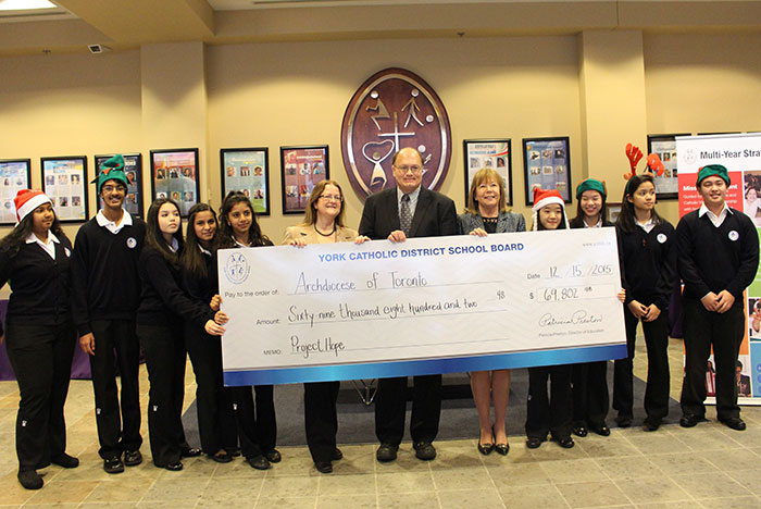 York Catholic sets a record for Project Hope fundraising, in support of refugees
