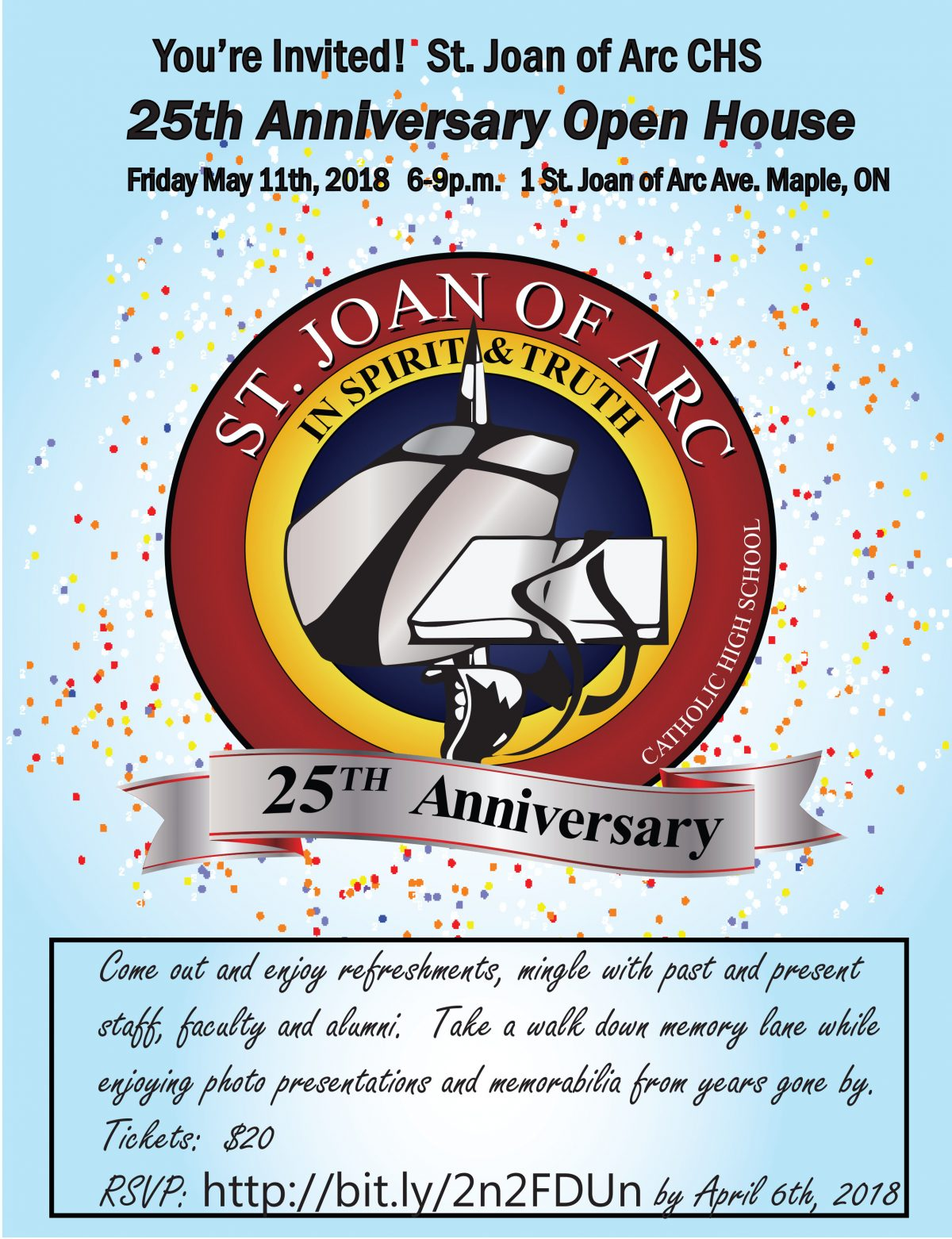 St. Joan of Arc 25th Anniversary Open House