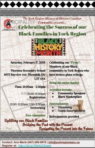 celebrating the success of our black families in York Region flyer