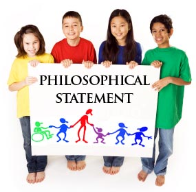 "children holding a sign that reads ""Philosophical Statement"""
