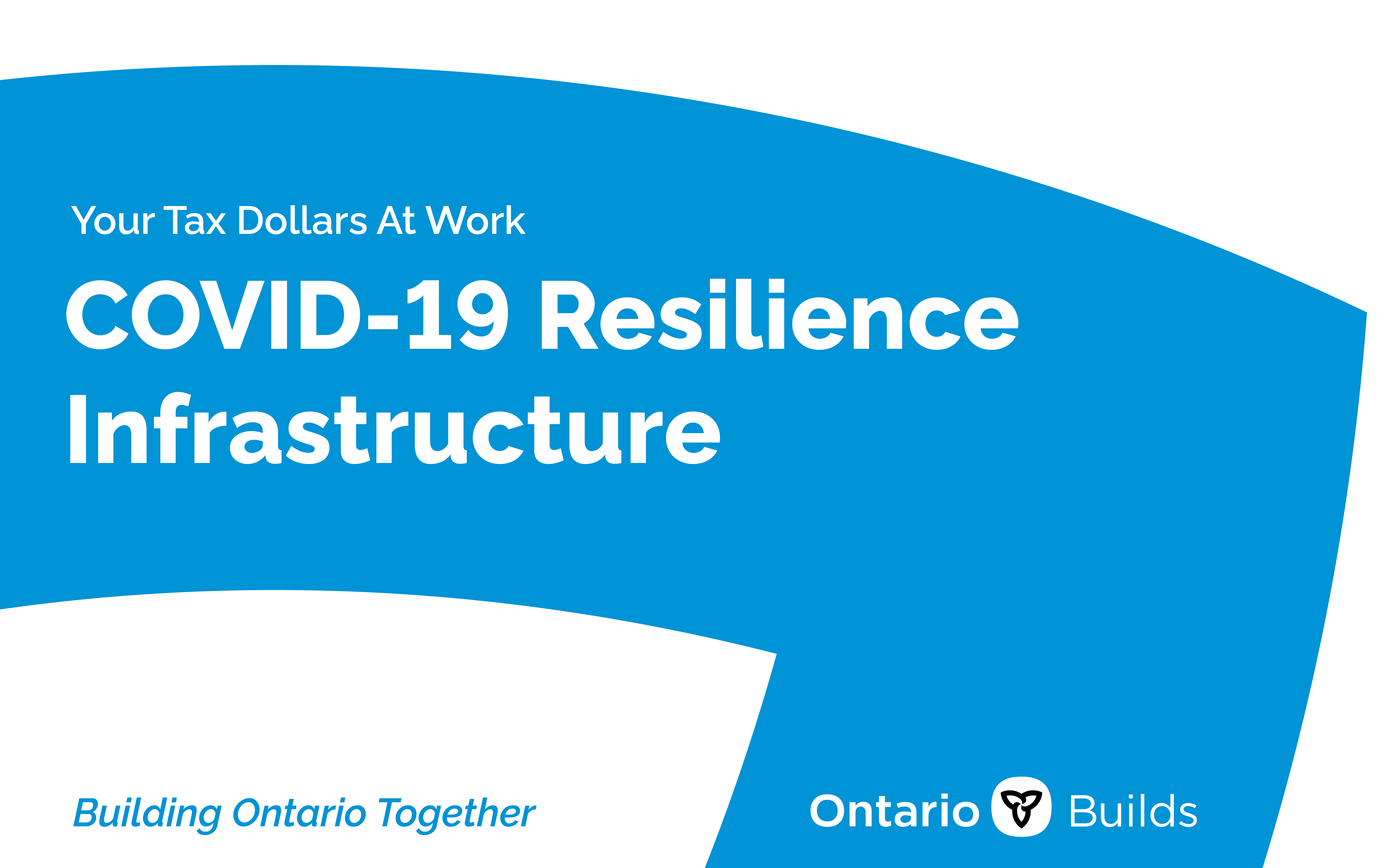 Your Tax Dollars at Work. COVID-19 Resilience Infrastructure