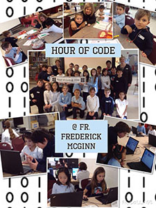 Father Frederick McGinn Students Participate in Hour of Code
