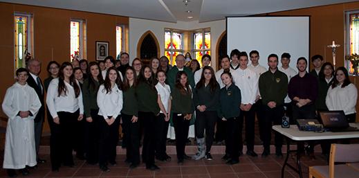 St. Theresa of Lisieux's Semester-End Italian Mass