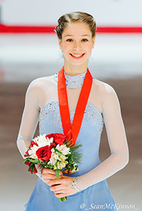 Grade 9 Student, Aurora Cotop, wins Gold at National Skating Competition