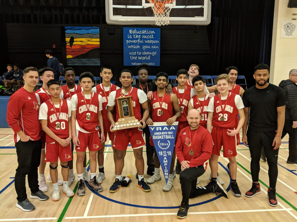 SBA Cardinals win YRAA Jr. Boys Basketball Championship