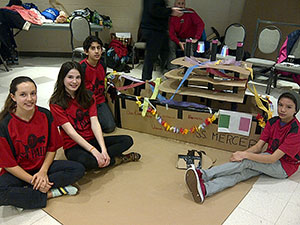 St. Paul team races cardboard boats at Skills Ontario competition