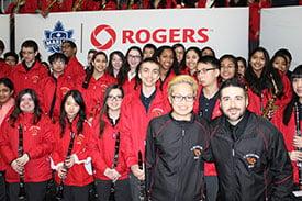 SBA Band performs at a Toronto Marlies Hockey game