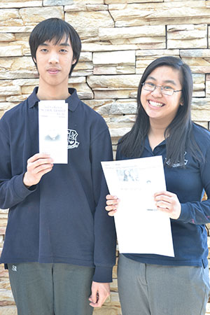 Two St. Brother Andre students win writing contests!