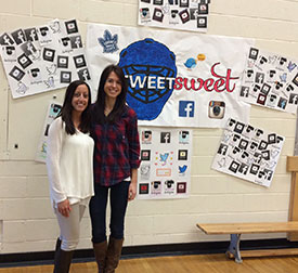 April Reimer speaks to students about her #TweetSweet campaign