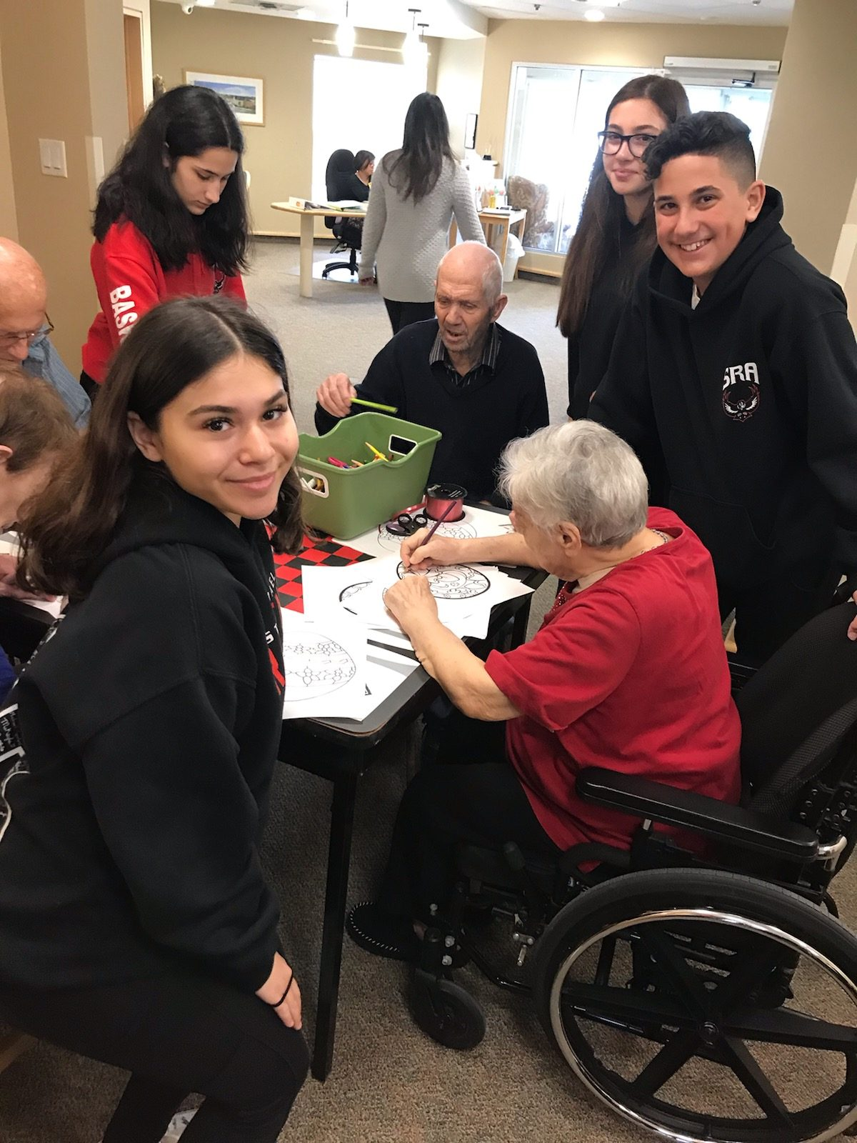 Seniors at long term care facility show appreciation for students