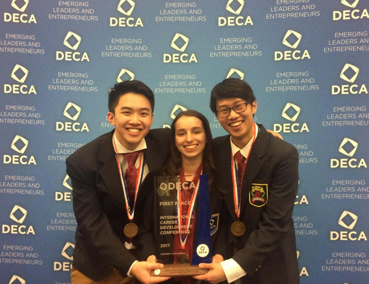 Students win first place at international DECA conference