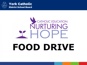 York Catholic to host large scale Nurturing Hope Spring Food Drive