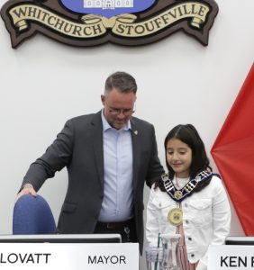 """St. Mark CES Student Wins """"Mayor For A Day"""" Contest in Whitchurch-Stouffville"""