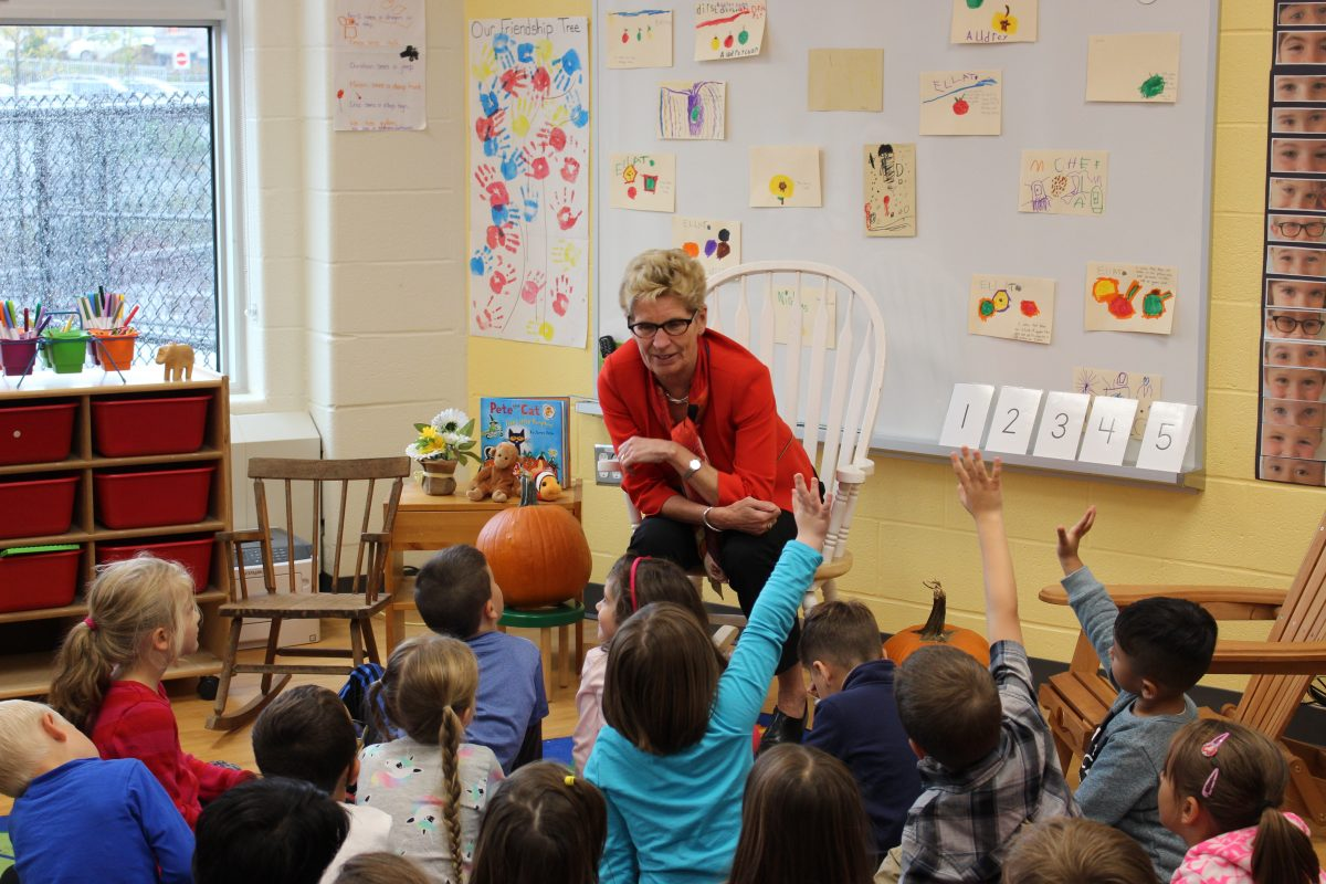 Premier Kathleen Wynne Visits Our Lady of Good Counsel