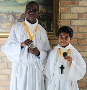 San Lorenzo CES students recognized as outstanding Altar Servers