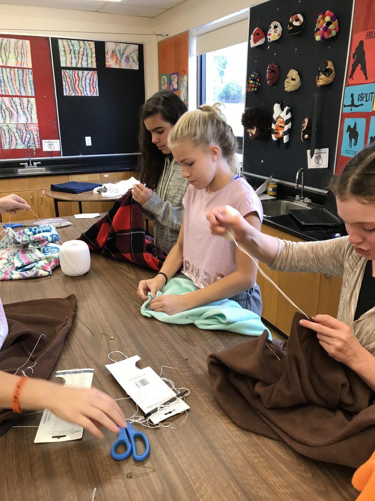 St. Paul students sew traditional blanket coats