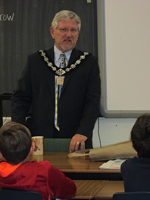 Richmond Hill mayor speaks to St. Anne students about the role of government