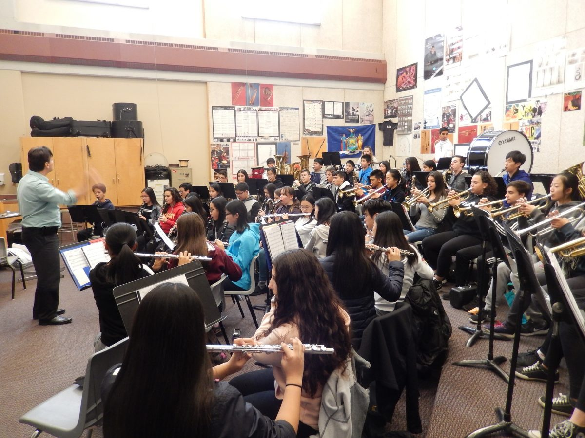Grade 9 students have a 'blast' at music workshop