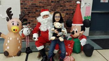 Santa Claus visits St. Monica CES