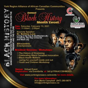 York Region Alliance of African Canadian Communities Black History Month Event