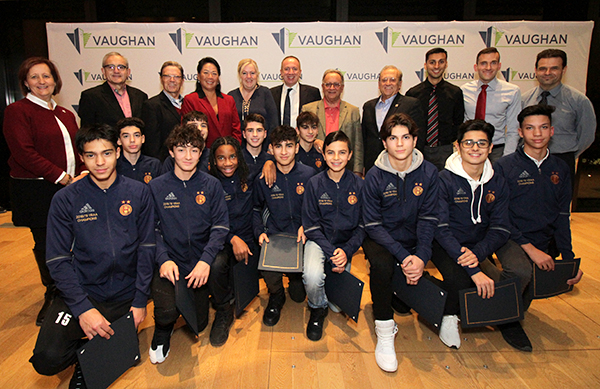 City of Vaughan recognizes Holy Cross' Junior Boys Soccer Team