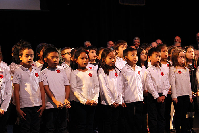 St. Joseph students perform at the City of Markham's Remembrance Day ceremony