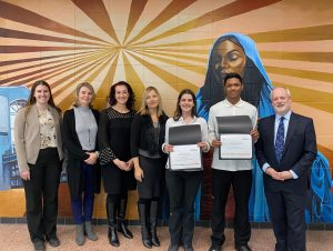 St. Elizabeth CHS students win Central Ontario Junior Achievement Titan Competition: a first for YCDSB