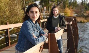 Two students from St. Theresa of Lisieux amplify their student voices to demand climate change