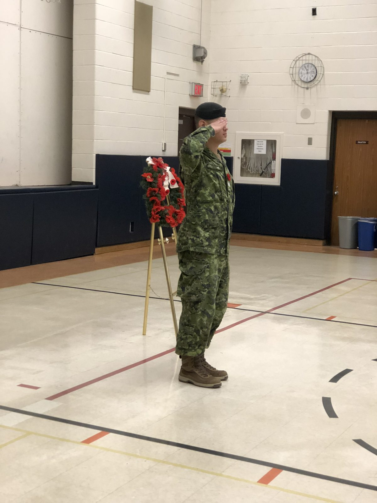 Remembrance Day Ceremony at St. Clement CES