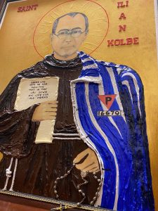 YCDSB grandparent, inspired by his faith, donates painting of St. Maximilian Kolbe to namesake school