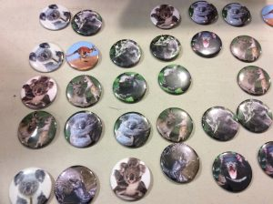 St. Monica CES Eco Club raises funds for Australian bushfires with handmade buttons