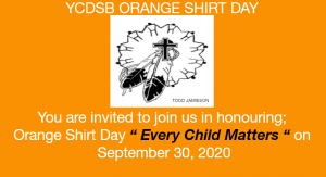 York Catholic to commemorate Orange Shirt Day: Every Child Matters